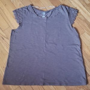 NWOT Light Brown Top by St. John's Bay size PM